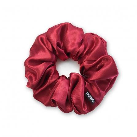 Bordó hajgumi (scrunchie) prémium minőségű, vastagabb szatén selyemből. Átmérője kb. 12 cm