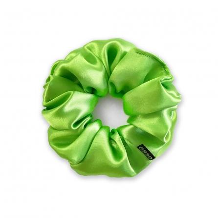 Kiwizöld selyem hajgumi (scrunchie) prémium minőségű szaténból. Átmérője kb. 12 cm