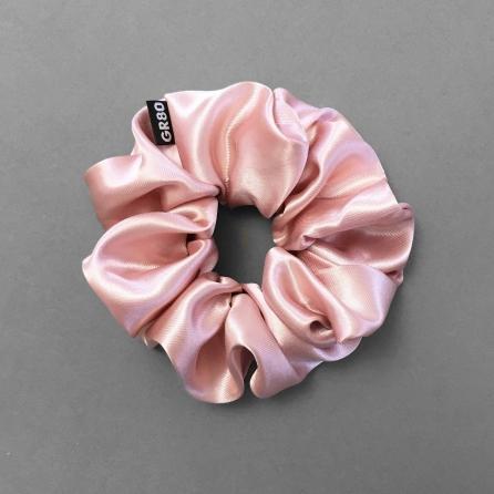 Rosegold színű szatén selyem hajgumi | scrunchie. Prémium minőségű. Átmérője kb. 12 cm