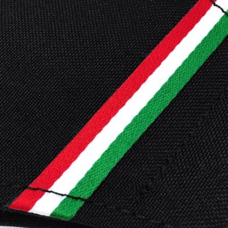 Magyar nemzeti szalagos maszk, 3 rétegű, PP szűrős, fekete színű