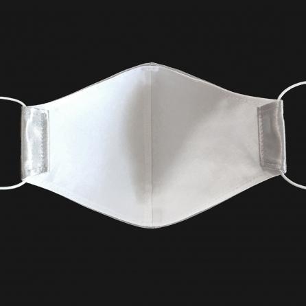 Ezüst selyem arcmaszk, szűrőbetéttel