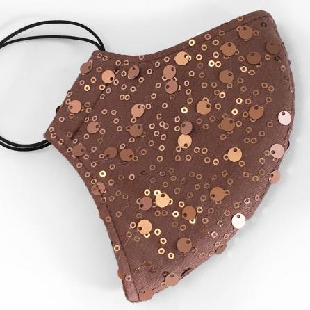 Flitteres, bronz színű, különleges maszk, akár dupla szűrővel is