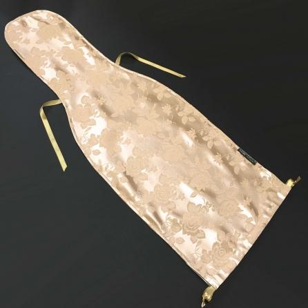 Arany, jaquard rózsás, selyem brokát hegedű formahuzat 4/4-es és 3/4-es hegedűhöz