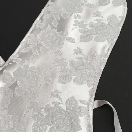 Ezüst, jacquard rózsás, selyem brokát hegedű formahuzat 4/4-es és 3/4-es hegedűhöz