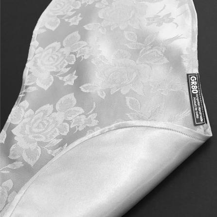 Szürke, jacquard selyem brokát, rózsás, elegáns hegedű takaró 4/4-es és 3/4-es hegedűhöz