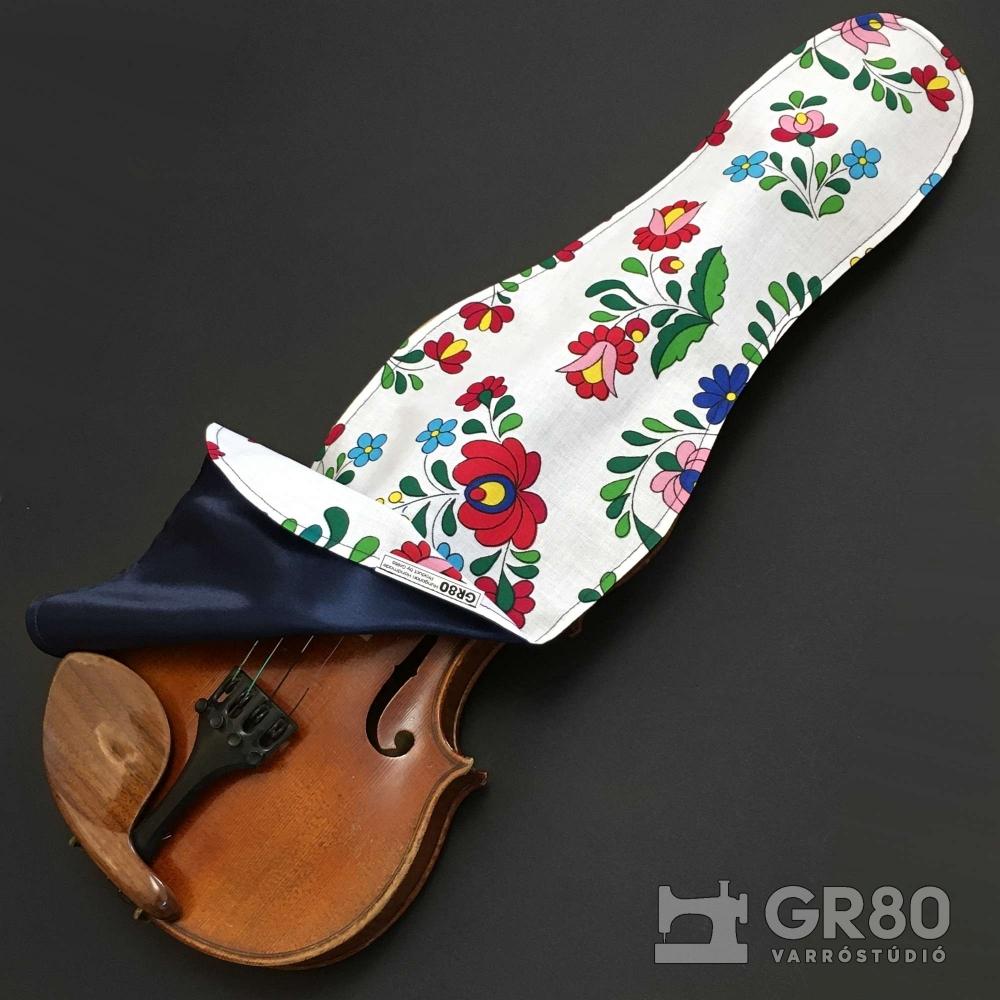 Kalocsai + selyem hegedű takaró 4/4-es és 3/4-es hegedűhöz